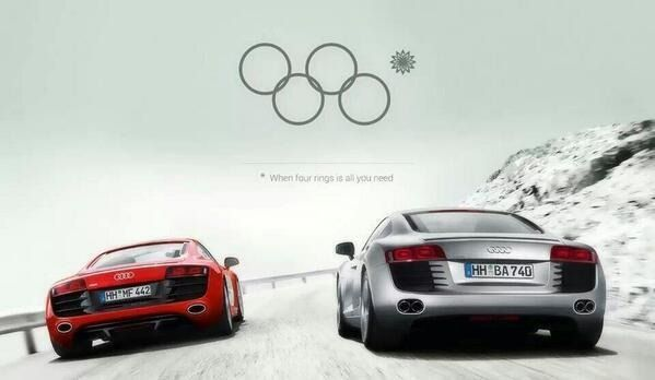 Audi wykorzystuje wpadkę podczas otwarcia IO w #Sochi2014
