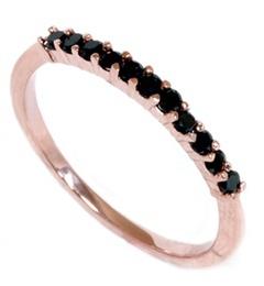 Countess! Black diamond, on white gold instead :) Rose Gold .30CT Black Diamond Wedding Anniversary Ring