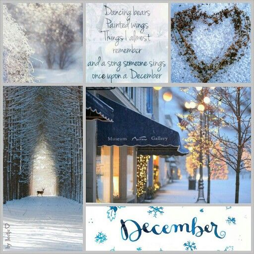 A song someone sings once upon a December.. #moodboard #mosaic #collage…