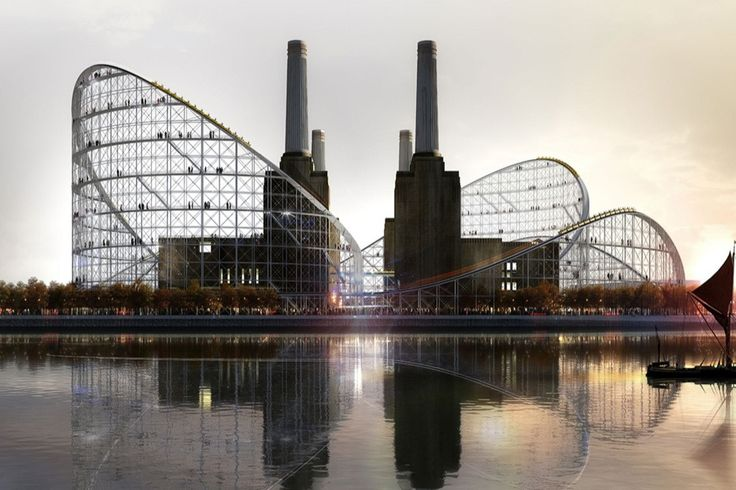 Architects imagine a Battersea Power Station rollercoaster conversion