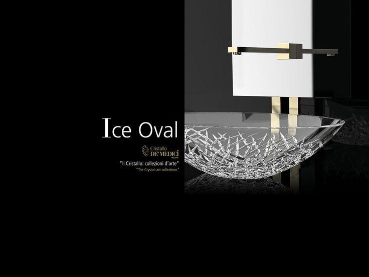 glass design ice oval lavabo de vidrio deumedici