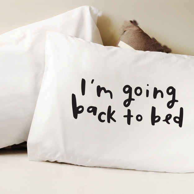A pillow cover that knows your plans.