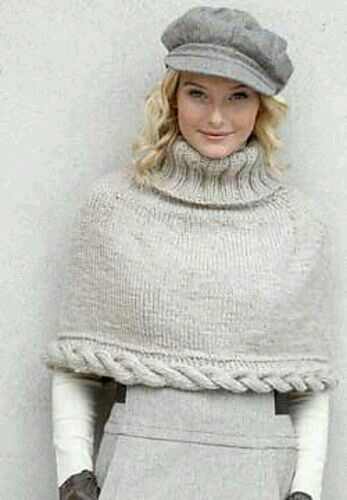 Knitting Pattern Turtleneck Capelet : 17 Best images about Woven Sweater on Pinterest Wraps, Patterns and Crochet...