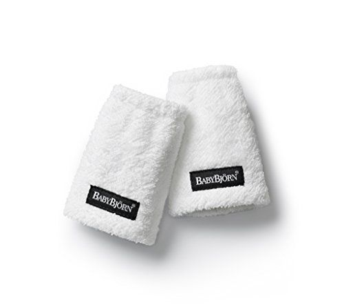 BabyBjörn 032021 - Pack de 2 protectores de tirantes para mochila portabebés, color blanco
