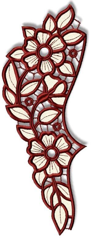Advanced Embroidery Designs - Primrose Cutwork Lace Border