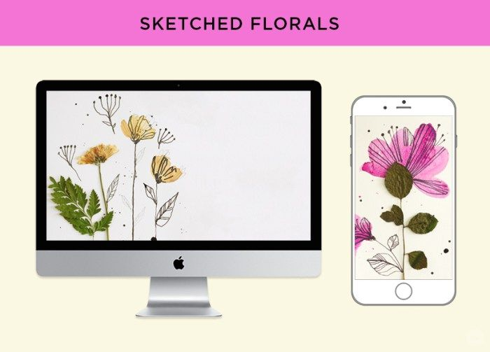 Free Digital Wallpapers Pressed Flower Art Think Make Share Pressed Flower Art Flower Art Digital Wallpaper