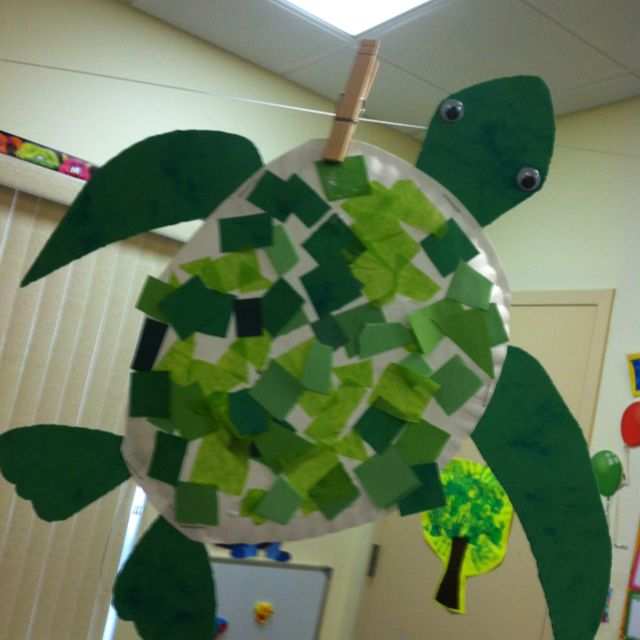 sea turtle craft... pair with the book TURTLE, TURTLE WATCH OUT! by April Pulley Sayre