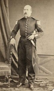 Portrait du sous-lieutenant de Fontenay du 8e régiment de Dragons en 1869, France. © ECPAD