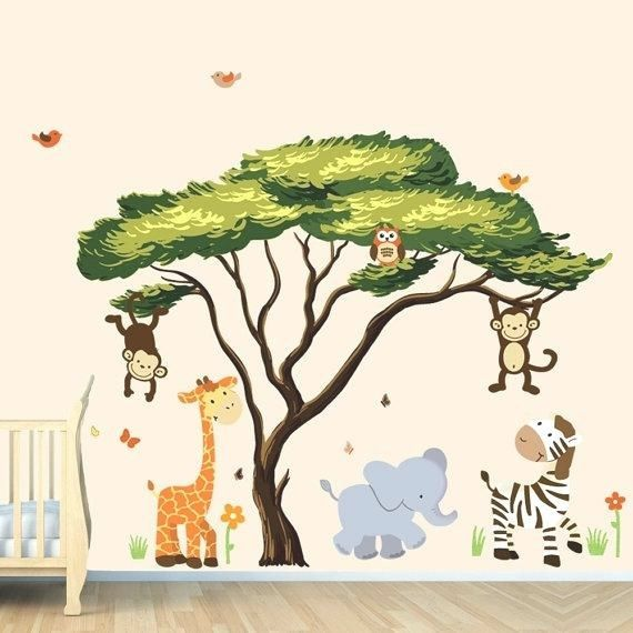 Jungle Book Wall Decals Jungle Wall Stickers Colorful Large Wall