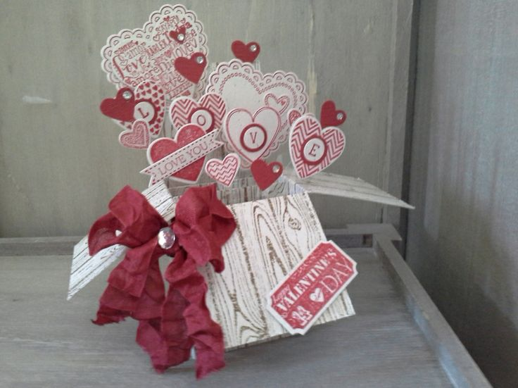 20140202_135818 -  Angie, Valentine Box Card using Monica Gale (my SU grandmother) tutorial.