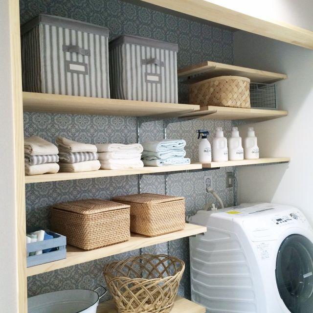 洗濯機の収納アイデア。使いやすくおしゃれな収納実例まとめ | iemo[イエモ]