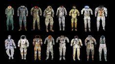 Los trajes espaciales más emblemáticos de la historia, en una imagen