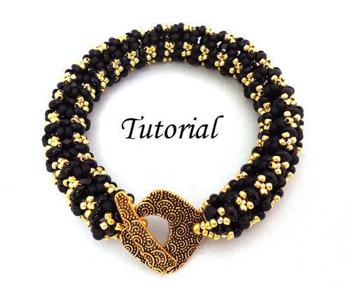 Tutorial Ladies Bangle Bracelet - with Twin seed beads
