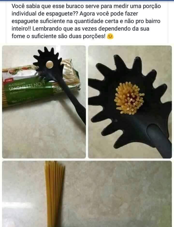 Revelaram a utilidade do buraco na Concha de Macarrão | SOS Solteiros