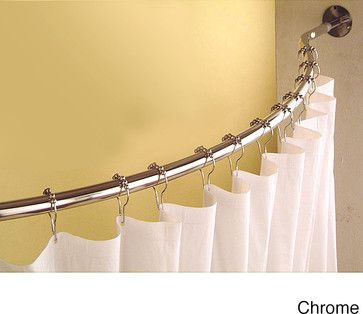 Curved 78 to 84-inch Shower Curtain Rod contemporary shower curtains