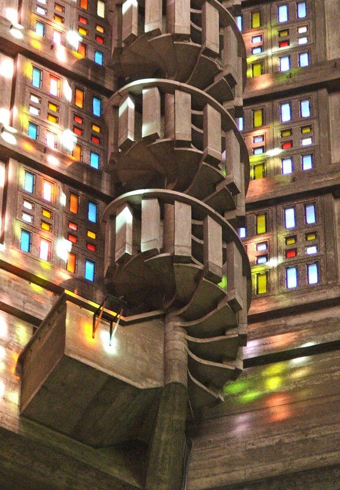 escalier de l'église st joseph - le havre