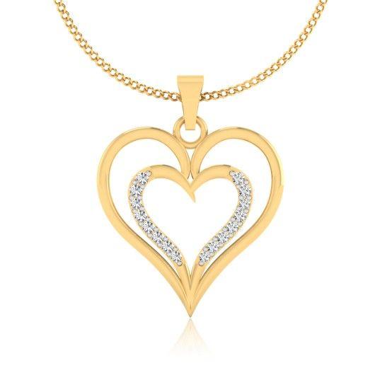 The Arvina Diamond Pendant P-0001YG