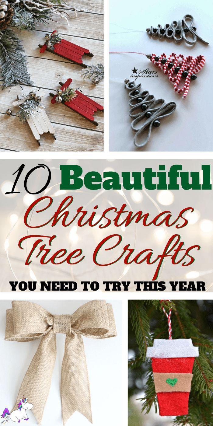 10 Diy Holiday Decorations To Make Your Christmas Tree Look Stunning This Year Handmade Christmas Crafts Christmas Tree Crafts Handmade Christmas Decorations
