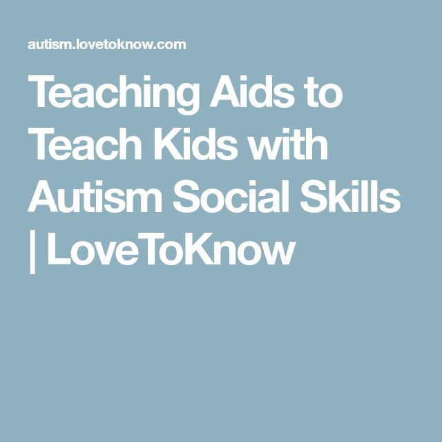 Teaching Aids to Teach Kids with Autism Social Skills   LoveToKnow