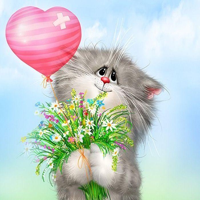 Открытки мая, коты долотова открытки с днем рождения