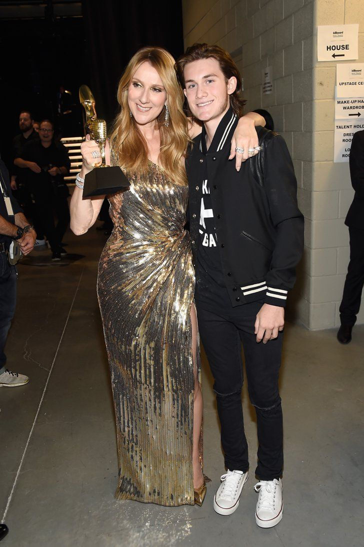 Pin for Later: 23 of the Cutest Billboard Music Awards Pictures  Pictured: Celine Dion and René-Charles Angélil