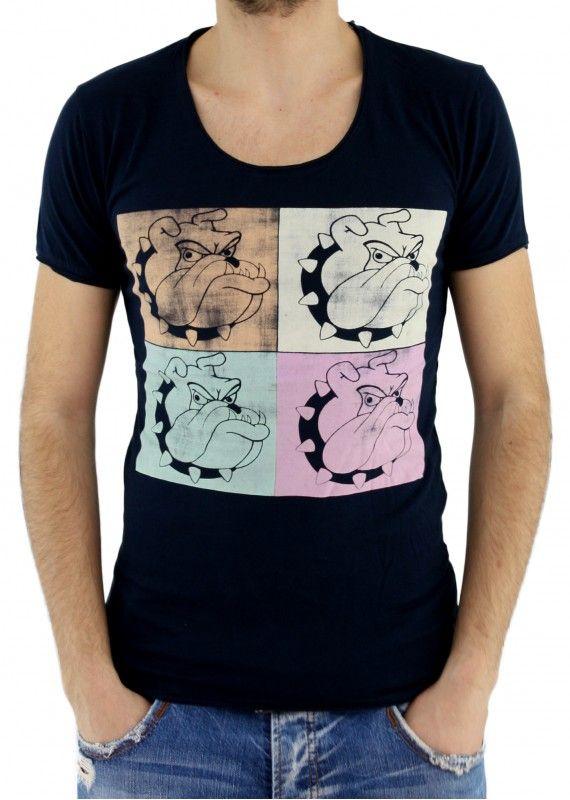 Bulldog Baskılı Tişört