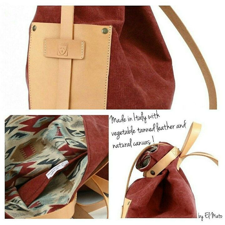 For free spirits only!! Handmade in Italy leather and canvas backpack! 100%natural materials!!