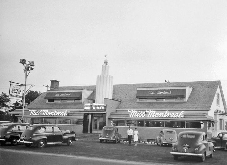 Miss Montreal drive-in, 1947History in Photos: Vintage Montreal