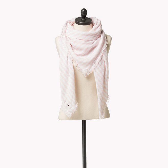 Tommy Hilfiger Gestreepte Sjaal - silver pink / classic white (Rose / Paars) - Tommy Hilfiger Sjaals - hoofdbeeld