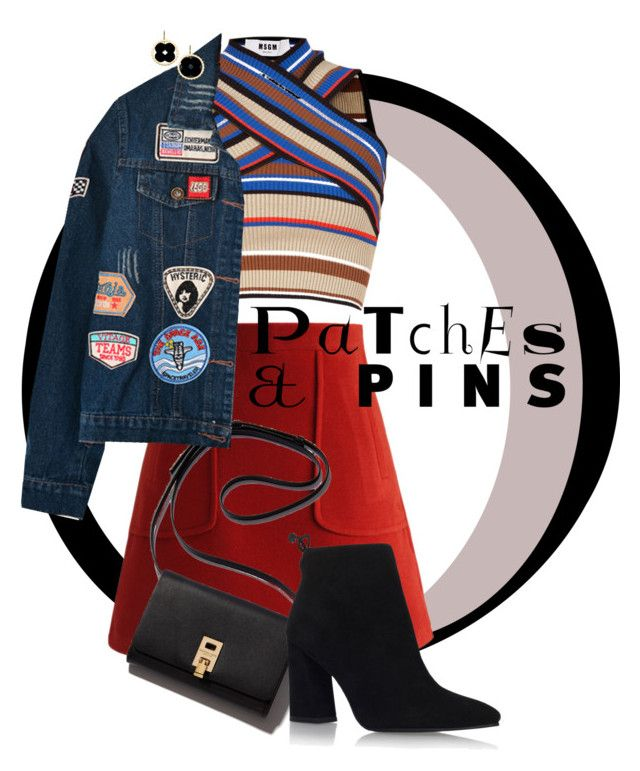 """Patches and Jeans"" by shasasoso on Polyvore featuring MSGM, Chicwish, Chicnova Fashion, Stuart Weitzman and Asha by ADM"