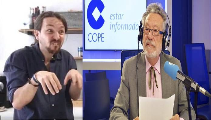 El grave insulto de Pablo Iglesias a Luis del Val a través de Twitter por su comentario en COPE sobre la cabalgata de Vallecas