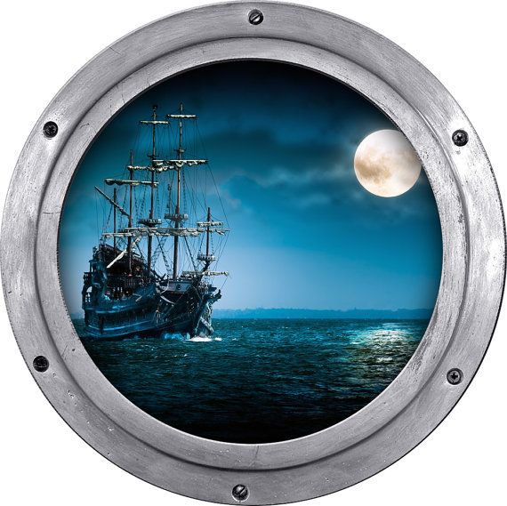 Pirate Ship Porthole Wall Sticker Wall Decal By Styleawall