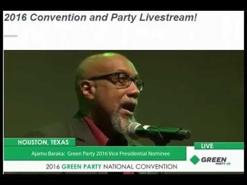 Ajamu Baraka VP Jill Stein Green Party Presidential Convention, Aug.6, 2016 - YouTube - antikriegTV - 4:06