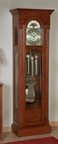 The Brookwood Grandfather #Clock Kit offers your choice of grandfather mechanical movement, dial, pendulum and weight shell set. The full length flat beaded columns and antique brass hardware finish the clock with a timeless accent.