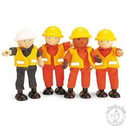 Equipe de chantier en bois - Pintoy
