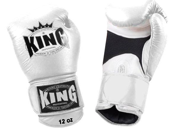 Boxerské rukavice Top King Super AIR bílé #http://pinterest.com/savate1/boards/ Boxing gloves for fighters.