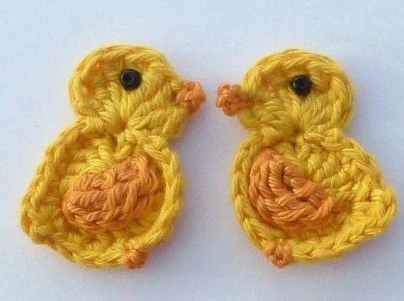 Crochet applique 2 large crochet Easter от MyfanwysAppliques, £3.00