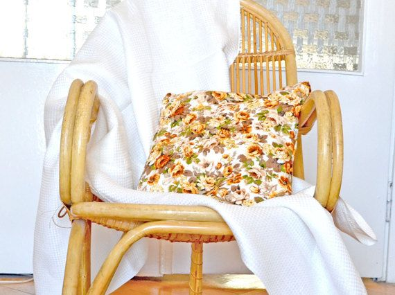 Linen pillow cover flax pillow covers floral by ForestSongClothes