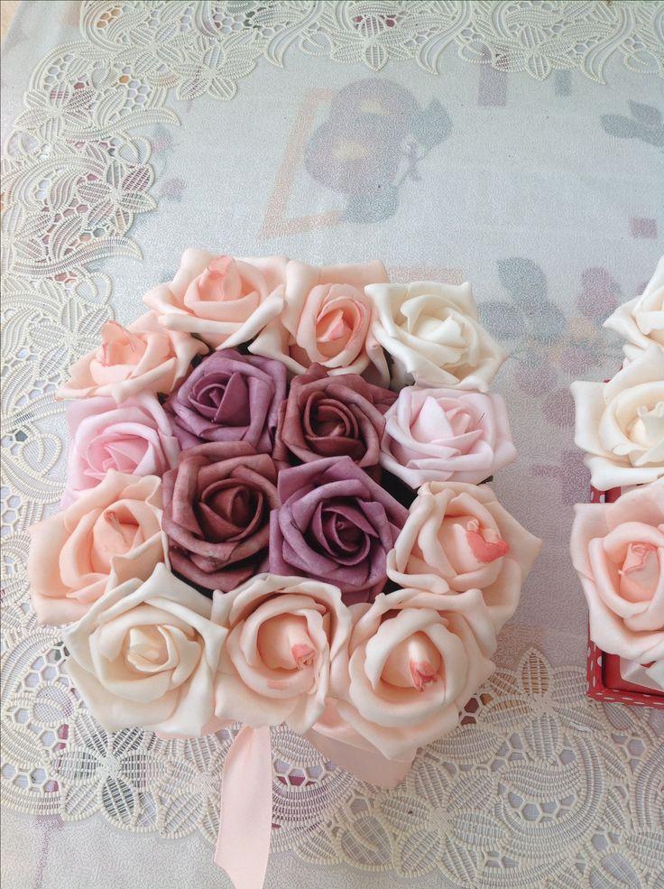 rose box, DIY, rózsadoboz, saját kezűleg, anyák napja,
