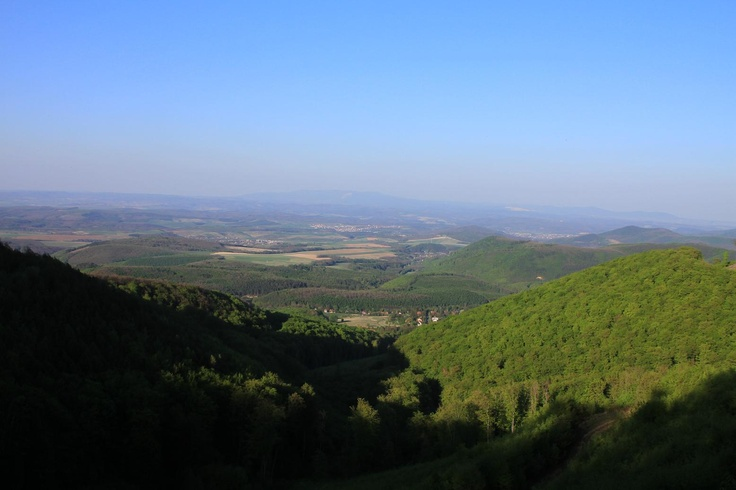 View from the Kékes Hill. Hungary.