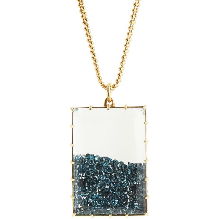 renee lewis blue diamond shake necklace gtgt my fav movie