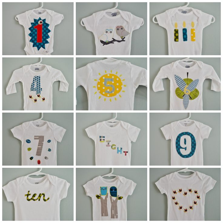 Made By Molly: DIY Monthly Onesies: The Perfect Baby Shower Craft!