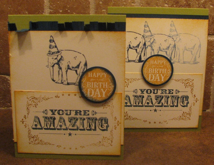 Your're Amazing ; Birthday ; Circle punches ; Masculine card