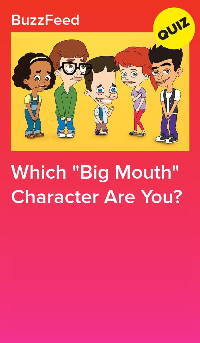 Which Big Mouth Character Are You Big Mouth Funny Shows Character
