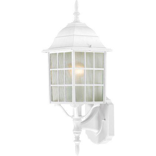 Outdoor lighting 19 pinterest nuvo lighting 604901 adams one light wall lanternarm up 100 watt a19 mozeypictures Gallery