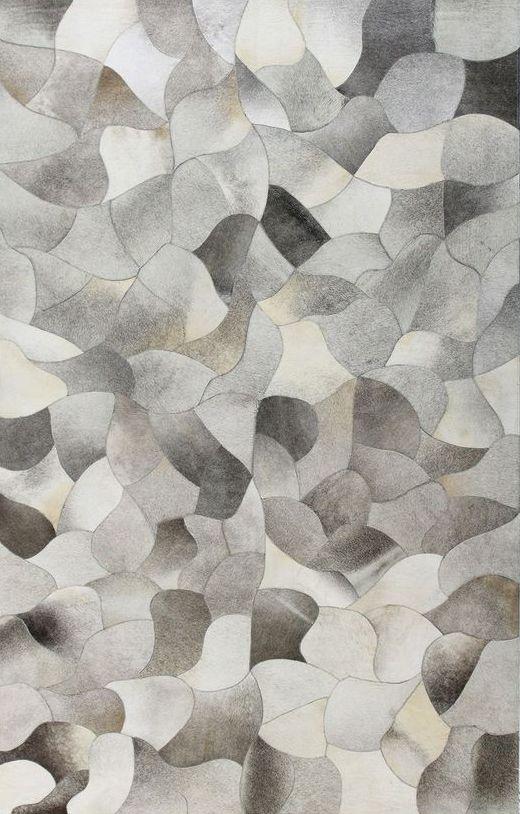 Patchwork Cowhide Rug - Grey