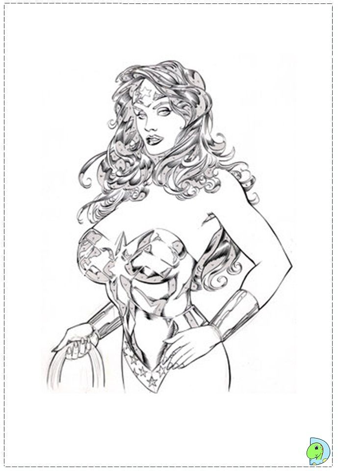 coloring pages superheroes women 1970 - photo#48