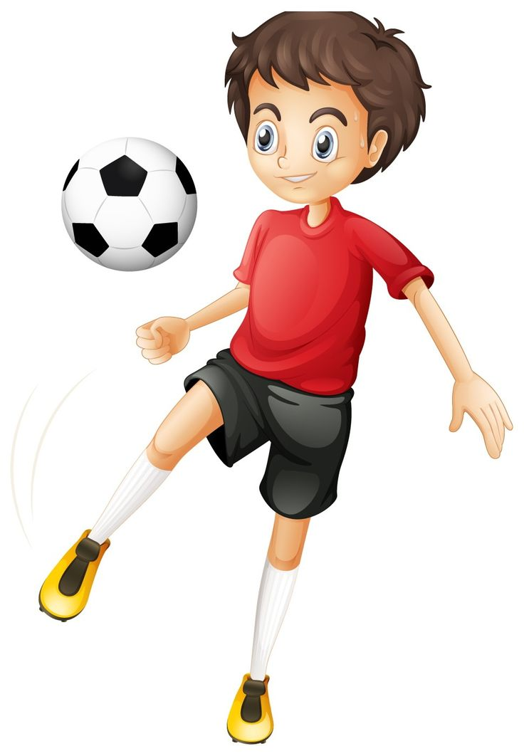 Kid Football Player Cartoon Image H