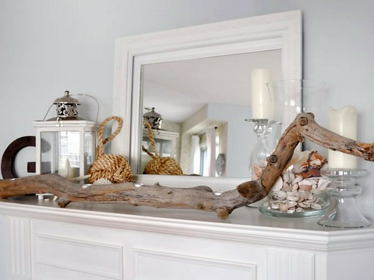 Coastal - Fireplace mantel decor