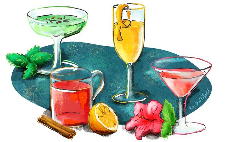 Festive Cocktail Recipes   Grasshopper, Martini, Champagne   Easy recipe from HelloFresh Blog